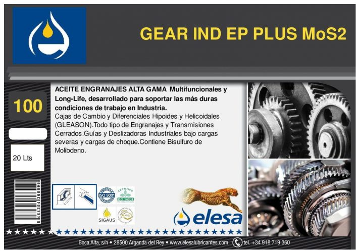 GEAR IND 100 EP PLUS MoS2