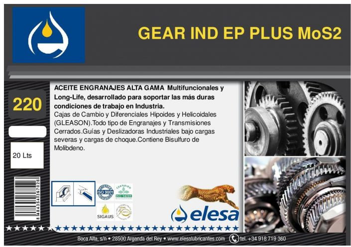 GEAR IND 220 EP PLUS MoS2
