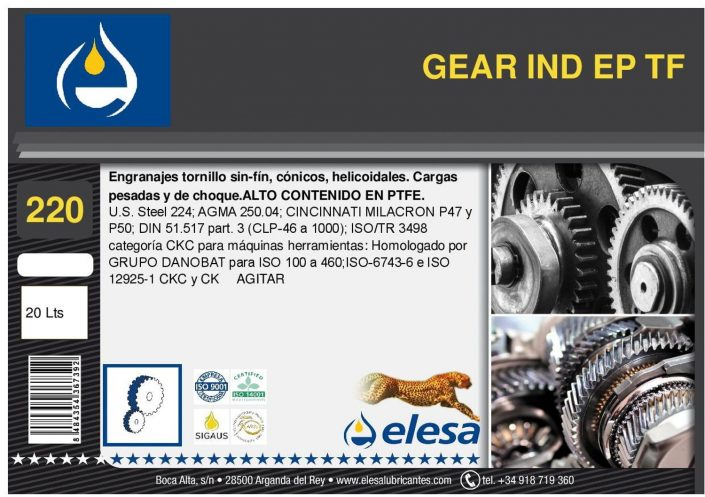 GEAR IND 220 EP TF