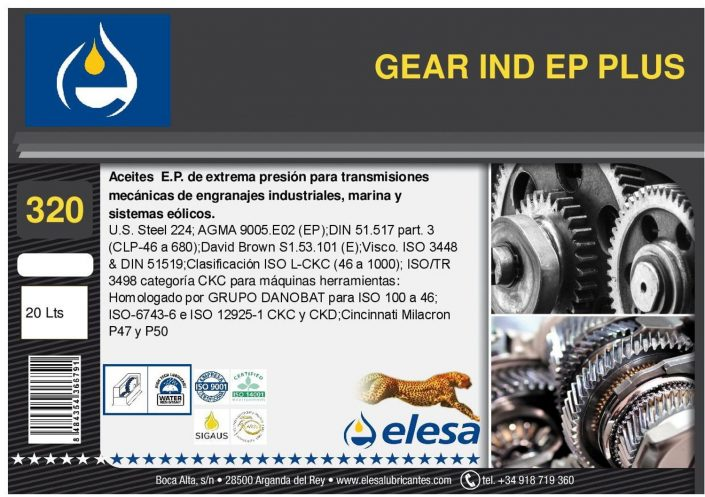GEAR IND 320 EP PLUS