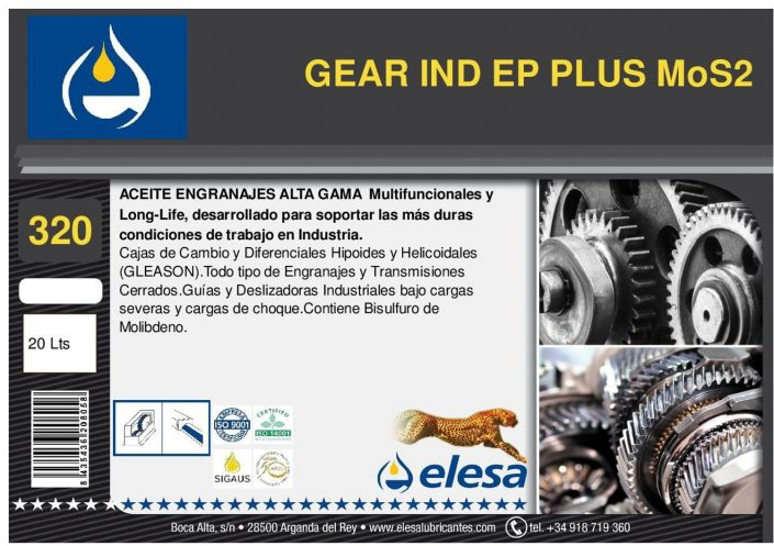 GEAR IND 320 EP PLUS MoS2