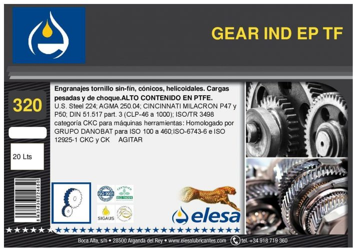 GEAR IND 320 EP TF