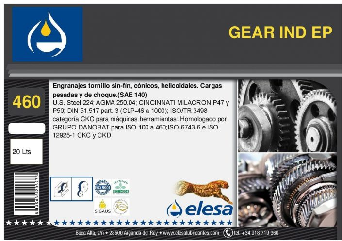 GEAR IND 460 EP