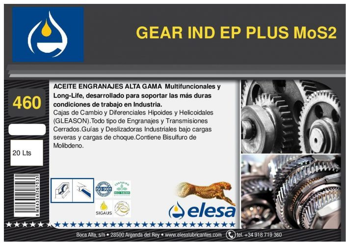 GEAR IND 460 EP PLUS MoS2