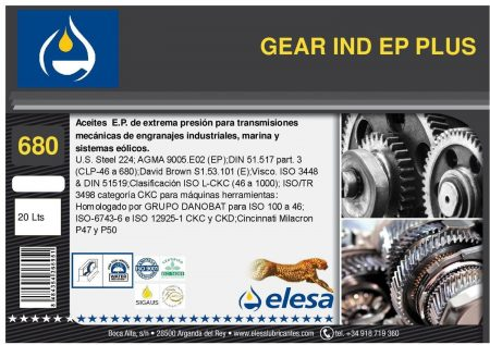 GEAR IND 680 EP PLUS