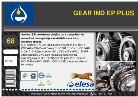 GEAR IND 68 EP PLUS