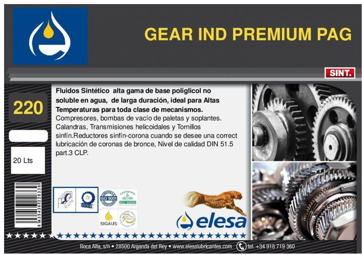 GEAR IND 220 PREMIUM PAG