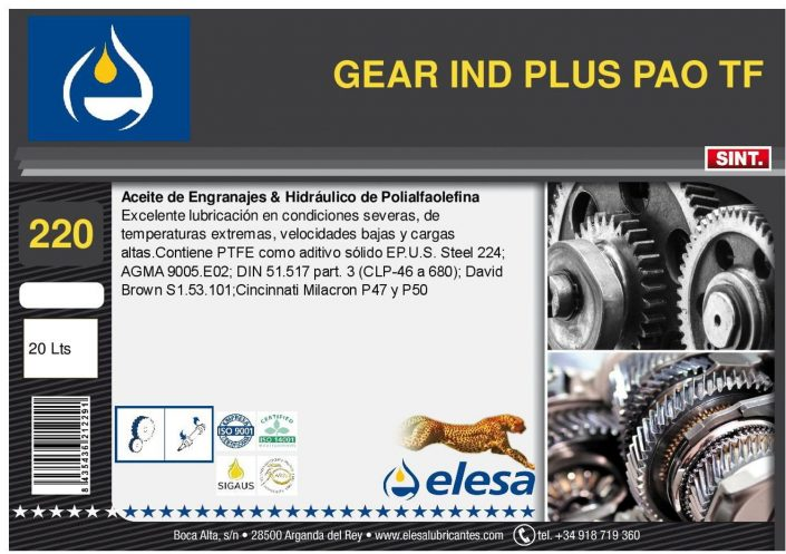 GEAR IND 220 PLUS PAO TF