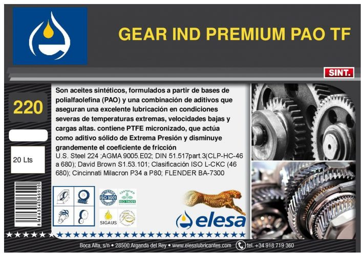 GEAR IND 220 PREMIUM PAO TF