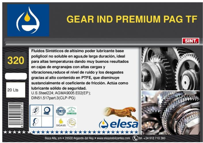 GEAR IND 320 PREMIUM PAG TF