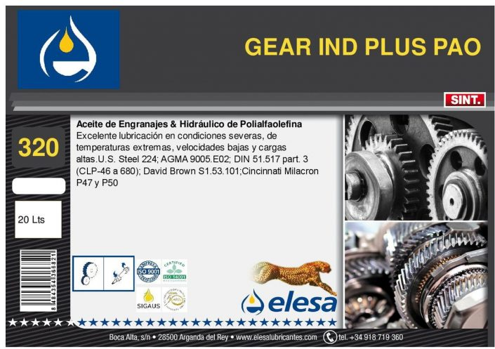 GEAR IND 320 PLUS PAO