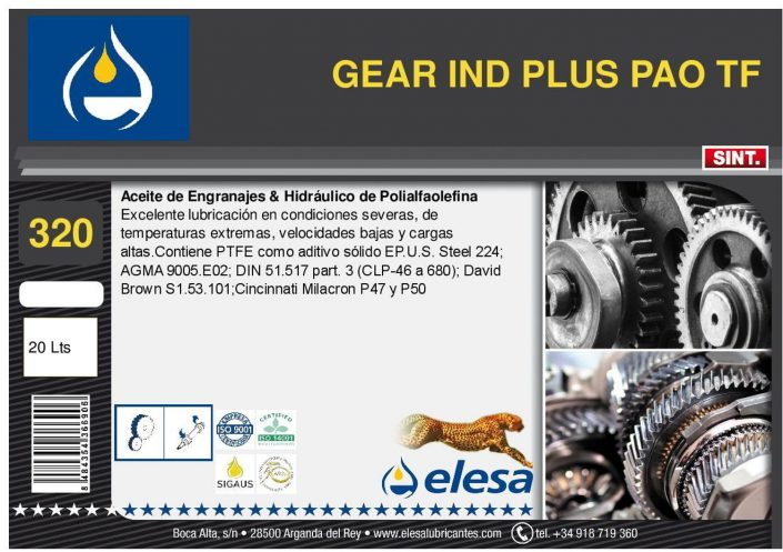 GEAR IND 320 PLUS PAO TF