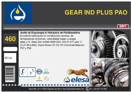 GEAR IND 460 PLUS PAO