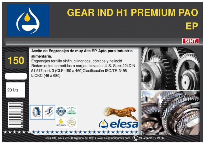 GEAR IND H1 150 PREMIUM PAO EP