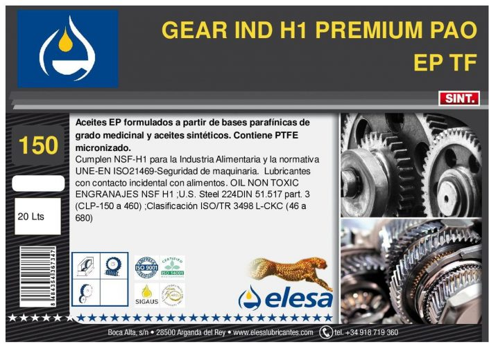 GEAR IND H1 150 PREMIUM PAO EP TF