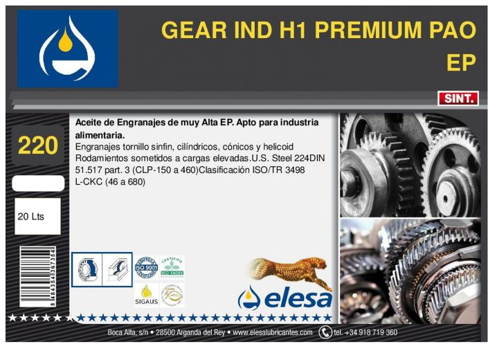 GEAR IND H1 220 PREMIUM PAO EP