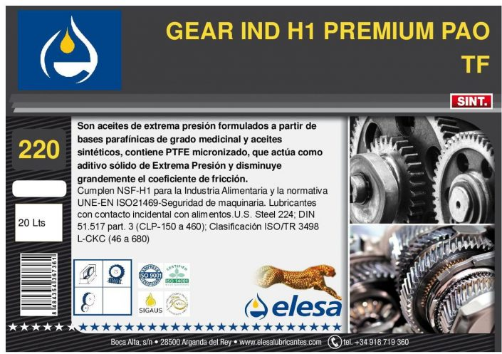 GEAR IND H1 220 PREMIUM PAO TF